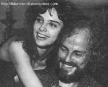 Lídia e o pai, em 1979.