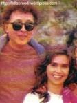 """Aguinaldo e Lídia, em 1989, nos bastidores de """"Tieta""""."""