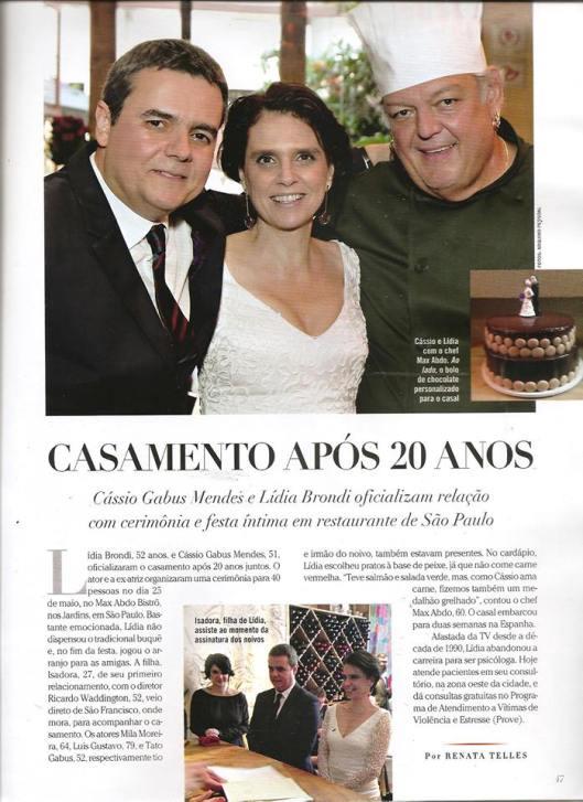 """Página da revista """"Contigo!"""", edição 1.969 (colaboração da Mada Aveiro)"""
