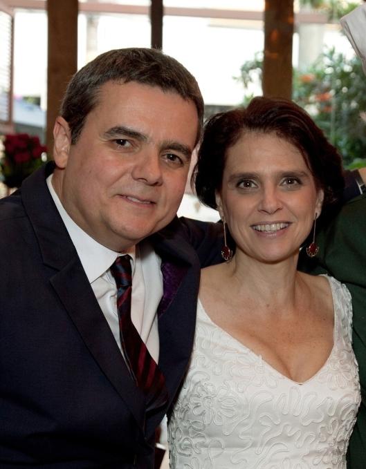 Cássio e Lídia, em maio de 2013, quando o casal oficializou a união de 20 anos.