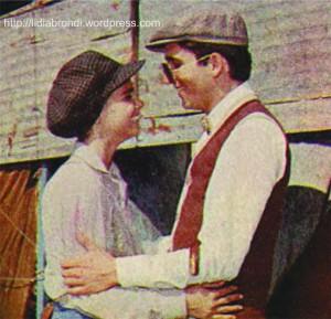 """Lúcia (Lídia Brondi) e Júnio (Marcelo Picchi) em """"À Sombra dos Laranjais""""."""