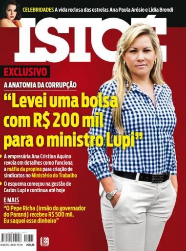 """Capa da """"IstoÉ"""" que destaca a matéria sobre Lídia Brondi e Ana Paula Arósio."""