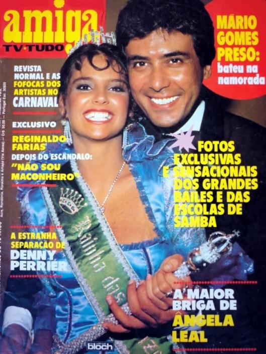 """Lídia Brondi e Paulo Figueiredo na capa da """"Amiga"""" (material disponibilizado no blog """"Revista Amiga e Novelas""""."""
